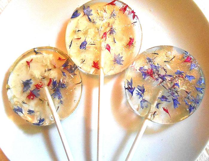 paletas de flores de caramelo 12