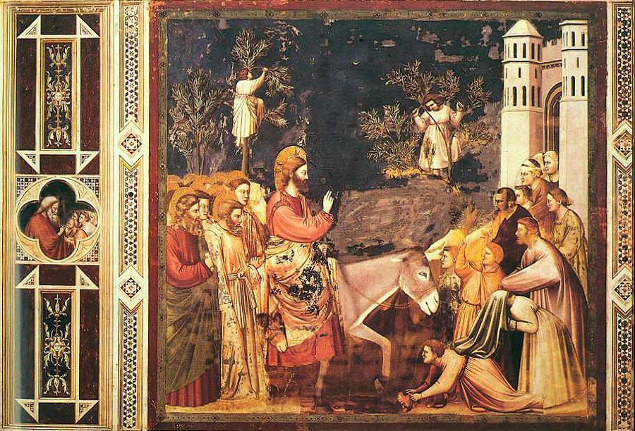 Giotto Entry into Jerusalem wikimedia