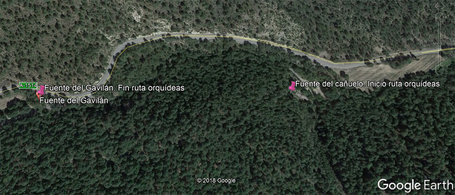6 vista google earth puntos de la ruta