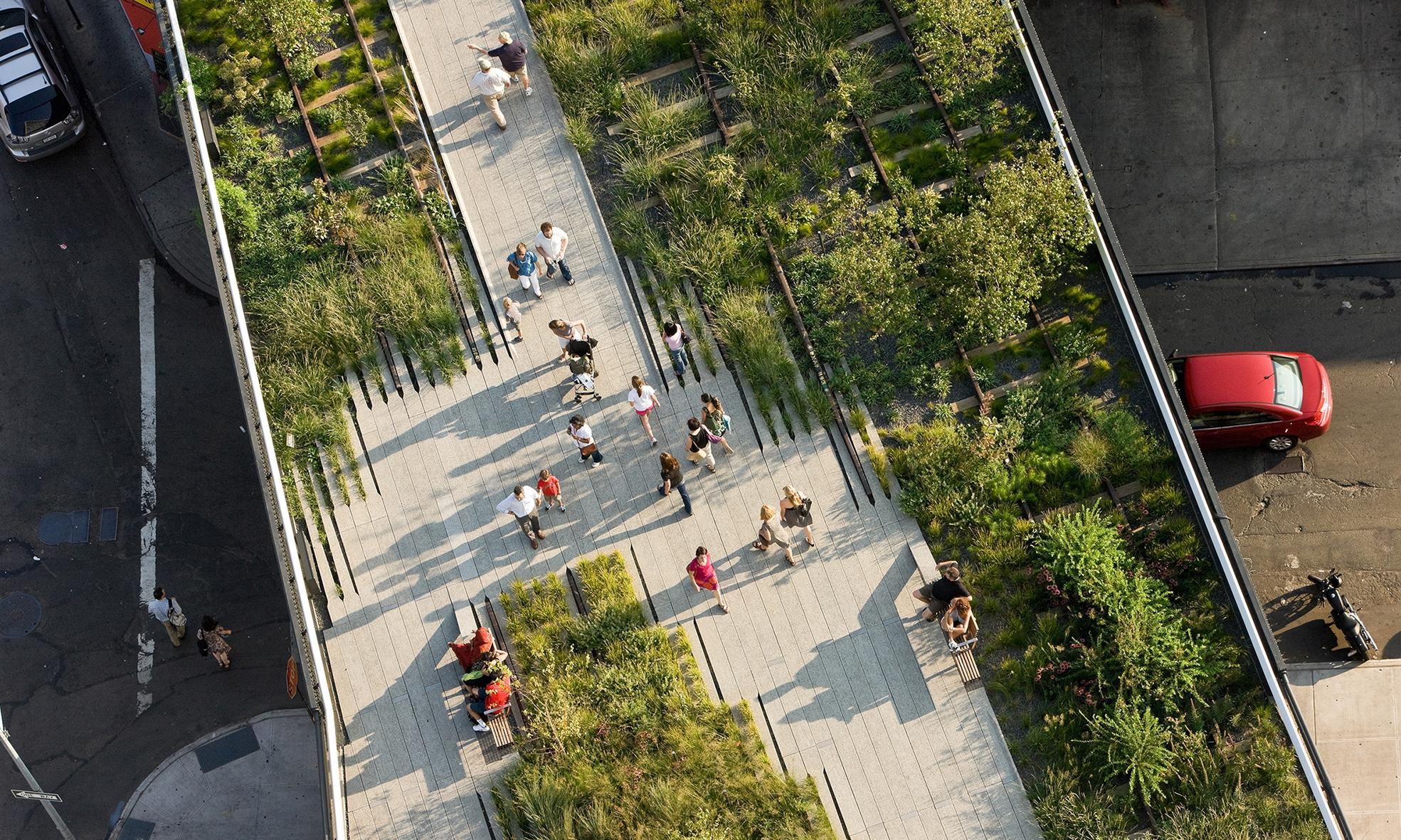 Vista aèria del High Line Park / Col·legi d'Arquitectes de Catalunya