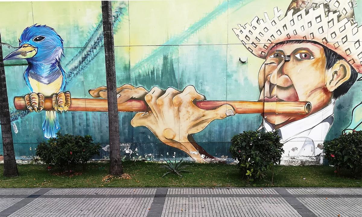 Mural en el Cantó 1. Espai d'Art de Santa Cruz de la Sierra, Bolívia. / Jose Aparici